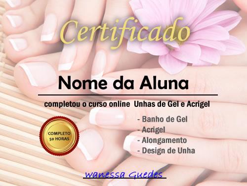 certificado wanessa guedes