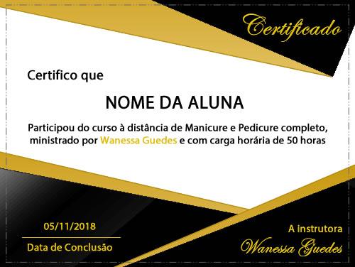 certificado manicure pedicure